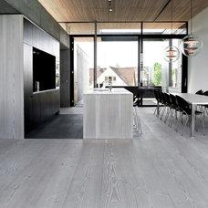 Modern Hardwood Flooring by Architectural Elements + Design