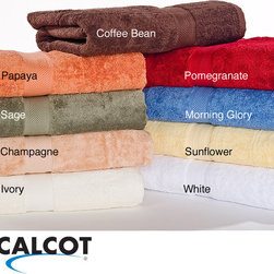 Calcot - Calcot 600 GSM Supima Cotton Ring Spun Bath Towels (Set of 2) - Dry off after a shower with these stylish supima cotton towels by Calcot. These plush towels are constructed from ring-spun cotton and are available in a solid color pattern. Machine washable, these sturdy towels are practical as well as stylish.
