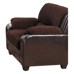 Coaster - Coaster Monika Stationary Chair in Chocolate - Coaster - Club Chairs - 502813 - Perfect for relaxing by the fire with a good book in hand, this upholstered chair will quickly become your favorite seat in the house. Stuffed with pillow-top arms, a thick boxed seat cushion, and a plush channel-tufted back pillow, this chair will surround your body with exceptional comfort and support as you sink into its soft upholstery.
