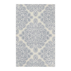 Surya Modern Classics Foggy Blue Rectangle Area Rug