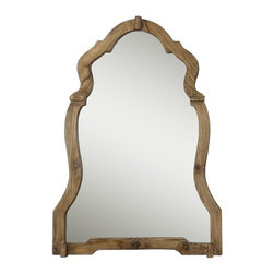 Uttermost - Agustin Light Walnut Mirror - Rustic elegance for your home. This large, ornate wall mirror features a stained walnut frame for a simple sophistication.