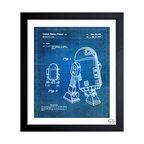 """The Oliver Gal Artist Co. - ''Robot II 1979' 10""""x12"""" Framed Art - Exclusive blueprints inspired by real vintage patent drawings & illustrations. Handcrafted in the Oliver Gal Artist Co. Studios in Miami, Florida. Produced on matte proofing paper and hand framed by professional framers in a 1.2"""" premium black wood frame. Perfect for any interior design project, gifts, office décor, or to add special value to one of your favorite collections."""