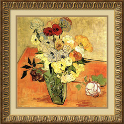 """Roses and Anemones"" Framed Print by Vincent van Gogh"