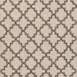 "Plain Tin Oatmeal Wool Micro Hooked Rug, 2'6"" x 8' - This rug would look great on a set of very dark stairs. I'd love to see it paired with some neutral furniture at the base of the stairs with tons of color in the pillows."