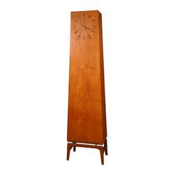 Danish Modern Teakwood Grandfather Clock - This one is a sexy Danish modern lovely that comes with storage down below. Sleek and contemporary, it would look terrific in a living room or entryway. I adore its simplicity.