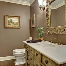 Traditional Powder Room by Englund Construction, Inc.