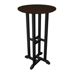 Home Decorators Collection - PolyWood® Bar Table - The PolyWood® Bar Table is constructed from high-density polyethylene, an exceptionally sturdy plastic with infinite recycle-ability. Perfect for your next patio party, this HDPE patio tables will add modern flair to your outdoor decor, as well as stand up to corrosive substances such as oil, fuels, insects, fungi, salt spray and other environmental stresses. Add this bar table to your outdoor setting today for a distinctive look that will endure year after year. Requires no water proofing, painting, staining, or similar maintenance. Does not absorb moisture and therefore will not rot, splinter, or crack. Over 90% of its HDPE construction is made from post-consumer bottle waste. Complement your purchase with the entire PolyWood® Collection of recycled plastic patio furniture. Multiple color options available.