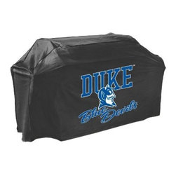 Mr Bar B Q - Duke Grill Cover - Duke Blue Devils Grill Cover... Mr. Bar-B-Q Getting ready to BBQ before the big game?  Make sure your grill stays in tip-top shape--while showing support for your favorite NCAA team--with this durable team grill cover. A large logo on the front cheers on your team  while the dual-layer design protects the grill from mildew  mold  sun and rain  This item cannot be shipped to APO/FPO addresses. Please accept our apologies.