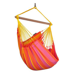 Home Decorators Collection - Sonrisa Hammock Chair - Our Sonrisa Hammock Chair is made of HamacTex® fabric, which looks and feels like cotton but resists sun and rain. Fast-drying, you can leave this hammock chair outside all summer. Weatherproof. Can be hung using the Hammock Chair Hardware Kit, sold separately.