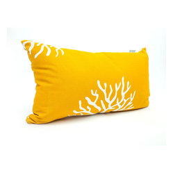 Outdoor Yellow Coral Small Pillow