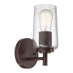 Quoizel Lighting - Quoizel EDS8601WT Edison 1 Light Bathroom Vanity Light, Western Bronze - Bath fixture 1 lgt wstrn brnz