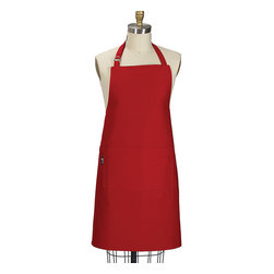 Kay Dee Designs - Red Apron - Adult - Make a statement with this bright apron. The halter neck strap can be adjusted for a comfortable fit, while a front pocket offers a perfect place to hide a secret ingredient. �� 26'' W x 35'' H 100% cotton Machine wash; tumble dry Imported��