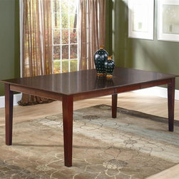 Atlantic Furniture - Shaker Dining Table in Solid Hardwood (42 in. - Finish: 42 in. W x 60 in. L - EspressoShaker Collection. 100% Solid eco-friendly hardwood. Mortise and tenon joinery. Finished with high build 5 step finishing process. Pictured in Antique Walnut finish. 1-Year warranty. 29.5 in. HAtlantic Furniture's Shaker Dining and Pub Tables feature the classic Shaker design that will look picture perfect in any home. Exceptional craftsmanship and high quality materials mean that you can feel confident that your purchase will last for years to come.