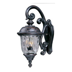 Maxim Lighting - Maxim Lighting 3496WGOB Carriage House DC Bronze Outdoor Sconce - 2 Bulbs, Bulb Type: 60 Watt Incandescent