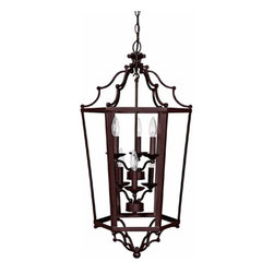 Capital Lighting Fixture Company - Mediterranean Bronze Medium Lantern Pendant - Mediterranean Bronze Medium Lantern Pendant Capital Lighting Fixture Company - 9274MZ