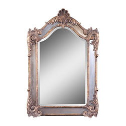 """Uttermost - Uttermost 12691 B Alvita Beveled Mirror With Mirror And Metal Frame - Uttermost 12691 B Grace Feyock Alvita Small MirrorThis shaped, beveled mirror is accented by antiqued side mirrors and an antiqued gold leaf frame with a dark gray glaze. Mirror has a generous 1 1/4"""" bevel.Features:"""