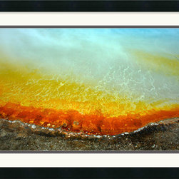 Amanti Art - Mineral Spring Framed Print by Andy Magee - Andy Magee's dramatic photograph of 'Mineral Spring' features fluid waves of color. This vibrant image is sure to stimulate your surroundings.