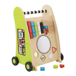 KidKraft - Kidkraft Push Along Play Cart - Our Push Along Play Cart puts a tracking maze, a play xylophone, and a shape sorter all together into one adorable toy. On top of all of that, kids get to push it around from room to room as they play.