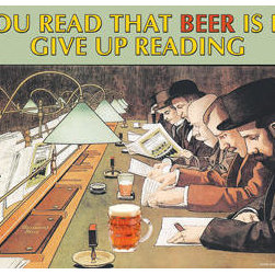 Buyenlarge - If You read that Beer is evil stop reading 28x42 Giclee on Canvas - Series: Alcohol