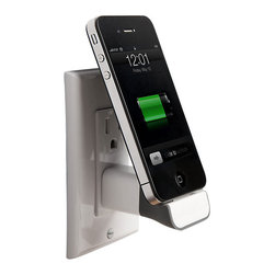 BlueLounge - MiniDock Charger, Lightning Pin Model - Never again worry about where to put your iPhone as it charges; the BlueLounge MiniDock lets you charge your phone right on the wall. Now you no longer have to put your iPhone on a bathroom or kitchen sink, both freeing up surface space and keeping your iPhone out of reach of deadly liquids. With the BlueLounge MiniDock your iPhone is easier to use as it charges, and its safer too.
