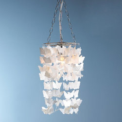Pearl Capiz Butterfly Curtain Pendant Light -