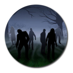 "Made on Terra - Rise of the Zombie Horde Mouse Pad - You're unashamedly a little proud of yourself. You've done a bang-up job organizing your desk and it deserves something special. This fabulous mouse pad should do just nicely, thank you very much. Choose from Made on Terra's many mouse pads.  Measures 7 1/2"" in diameter; 1/4"" thick. Made of polyester on top and durable black rubber on the back. Sold individually."