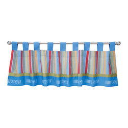 Trend Lab - Nascar Window Valance - Why not go all the way? and complete your babys nursery with this wonderful accessory? The Nascar - Window Valance by Trend Lab features 9 ultrasuede tabs at the top that allow for easy hanging. Measures 53 in x 15 in and fits a standard size window. Care instructions - Machine wash cold with like colors; Gentle cycle; Do not bleach; Tumble dry low or line dry; Do not dry clean; Do not iron.