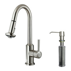 VIGO Industries - VIGO Stainless Steel Pull-Out Spray Kitchen Faucet with Soap Dispenser - You deserve a high-performing kitchen - why not start with a VIGO faucet for your sink?