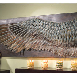 Wall - Wing of Icarus Sculptural Metal Wall Frieze