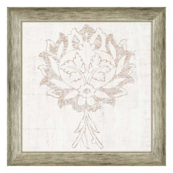 Paragon - Weathered Damask IV - Framed Art - Each product is custom made upon order so there might be small variations from the picture displayed. No two pieces are exactly alike.