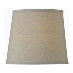 Hunter - Hunter 9in. x 10in. Linen Tapered Drum Shade SH85010LN - Shop for Lighting & Fans at The Home Depot. Update your style without the cost of a new lamp. This 9 in. x 10 in. Linen Tapered Drum Shade is constructed from high-quality cotton and a linen fabric blend. Be able to show off a current style trend while gently diffusing light to minimize glare.