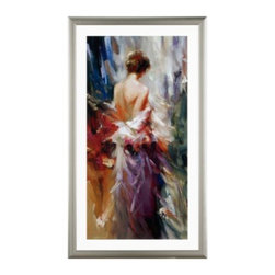 Z Gallerie - Like A Dream - In an homage to painters of the late 19th century, bold brushwork and dramatic shadows conjure a beautiful and intriguing woman. Edward Jarvis captures with light and color the rustle of silk and the mystery of a moment.
