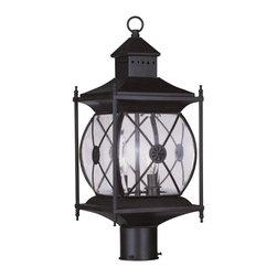 Livex Lighting - Livex Lighting Outdoor Post Light Providence, Bronze - Livex Lighting 2094-07 Outdoor Post Light Providence.