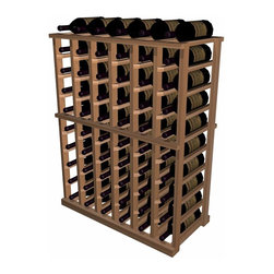 Wine Cellar Innovations - Designer Series Wine Racks - Half Height Indivividual - The Individual Half Height wooden wine rack is a very popular size. Each bottle is cradled on two rails that are cut with beveled ends and rounded edges which ensures the labels will not tear when the bottles are removed. The Individual Half Height wooden wine rack is 6 columns wide x 9 rows high and stores 60 bottles including 6 stored on top. Product requires assembly. Please note: molding packages are available separately.