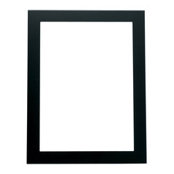 Lawrence Frames - Black 8x10 Metal Picture Frame - Contemporary matte black aluminum metal frame.  Beautiful black velvet backing with easels for vertical or horizontal table top display.  High quality 8x10 metal picture frame is made with exceptional workmanship and comes individually boxed.