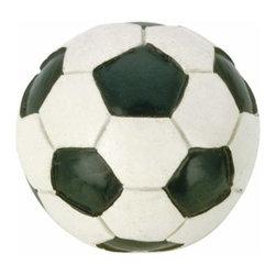 Richelieu Hardware - Richelieu Sports  Eclectic Polyester Soccer Knob - Richelieu Sports  Eclectic Polyester Soccer Knob