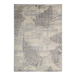 """Nourison - Nourison Utopia UTP02 9'6"""" x 13' Champagne Area Rug 04737 - Elegance in motion ... you can practically feel the breeze as these soft, leafy branches dance across a tone-on-tone background of warm, muted shades. The beautiful botanical pattern in a versatile color scheme welcomes nature into the home. A perfect fit with today's easy-living lifestyle."""