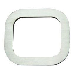 Atlas - Paragon House Number 0 - PGN0-SS - Manufacturer SKU: PGN0-SS. Stainless steel surface. Weather resistant. Peel-n-stick recycled backing. Lacquered for durability. Dense polyfiber backing. Projection: 0.75 in.. Made from metal. 4 in. L x 4.75 in. W