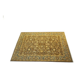 "n/a - Pak Persian Carpet, 12'1' x 9'1"" - Wood pile very fine Persian Tabriz design."