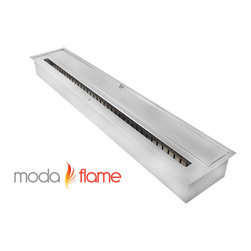 Moda Flame - Moda Flame 36 Inch Ethanol Fireplace Burner Insert - Moda Flame 36 Inch ethanol fireplace insert burner box can be used in most settings where you want to have a naked flame. Placed discretely into a already existing fireplace or you could make an effective lighting choice outdoors built into your garden. Recommended to be used with Moda Fuel ethanol fireplace fuel which provides a smokeless and odor free easy accessible fuel. Burner Insert (1)