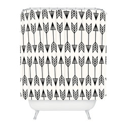 DENY Designs - Holli Zollinger Arrows Shower Curtain - Who says bathrooms can't be fun? To get the most bang for your buck, start with an artistic, inventive shower curtain. We've got endless options that will really make your bathroom pop. Heck, your guests may start spending a little extra time in there because of it!