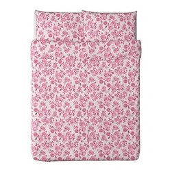 Emelina Ros Duvet Cover and Pillowcases, Pink, Full - This was the starting point for my daughter's bedroom makeover. I just adore this bedding, and it would be the perfect complement to rich gray walls.