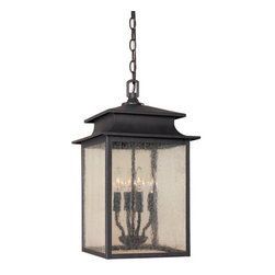 """World Imports - World Imports WI9108 12"""" Outdoor Pendant from the Sutton Collection - 12"""" Outdoor Pendant from the Sutton CollectionGorgeous concave roof protects clear seedy glass panels. From coast to coast, you have a winner!"""
