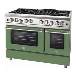 "BlueStar Platinum Series: 48"" Range - 48"" BlueStar Platinum Range in Pale Green (RAL 6021)"