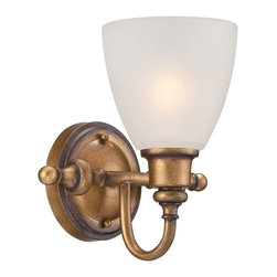 Designers Fountain - Designers Fountain Isla Bath / Vanity / Wall Sconce with Satin Etched, Aged Bras - Designers Fountain Isla Bath / Vanity / Wall Sconce with Satin Etched, Aged Brass X-SBA-10658