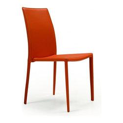 Creative Furniture - Orldando Modern Dining Chair (Set of 4), Orange - Features: