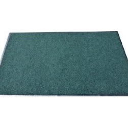 Dean Flooring Company - Dean Indoor/Outdoor Ribbed Carpet Entrance Mat/Rug with Rubber Border 3' x 5' - Dean Affordable Indoor/Outdoor Ribbed Carpet Entrance Mat/Rug with Rubber Border, Size: 3'x5', Color: Green : Heavy duty indoor/outdoor entrance mat by Dean Flooring Company with non-slip rubber back and border. Color: Green. Size: 3' x 5'. Helps prevent slips at entrance ways. Ribbed polypropylene carpeting is great for knocking dirt, snow, and ice off your shoes before entering. Our mat is an Andersen Waterhog style rug offered here at an affordable price.