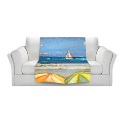 DiaNoche Designs - Throw Blanket Fleece - Danny Phillips 100% Chance of Sun Showers - Original Artwork printed to an ultra soft fleece Blanket for a unique look and feel of your living room couch or bedroom space.  DiaNoche Designs uses images from artists all over the world to create Illuminated art, Canvas Art, Sheets, Pillows, Duvets, Blankets and many other items that you can print to.  Every purchase supports an artist!