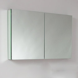 "Fresca - Fresca 40"" Wide Bathroom Medicine Cabinet w/ Mirrors - This 40""medicine cabinet features mirrors everywhere. The edges have mirrors and also on the interior of the medicine cabinet. The inside features two tempered glass shelves. Can be wall mounted or recessed into the wall."