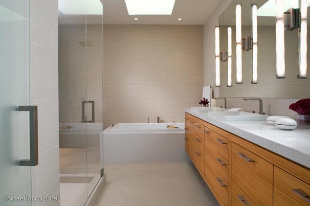 Modern Bathroom by Jennifer Gustafson Interior Design